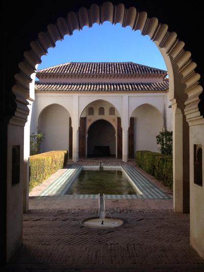 Patio de la Alberca à l'Alcazaba ©Régine Cavallaro