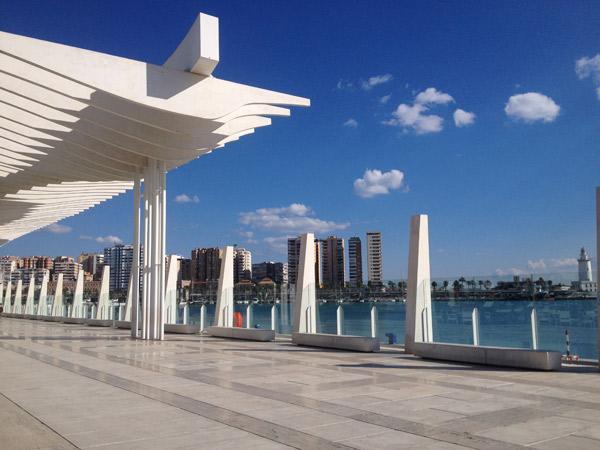 La joliment nommée Palmeraie des surprises, promenade du port de Malaga @Régine Cavallaro